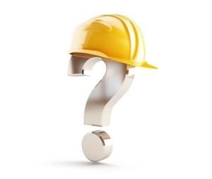 19334118 - construction helmet question mark
